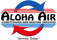 Aloha Air Conditioning and heating service Memphis Tennessee Logo